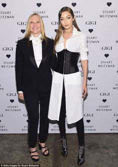 Dynamic duo: She was joined byStuart Weitzman's CMO Susan Duffy...