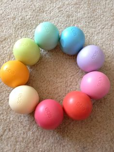 EOS lipbalms.. They look just like Easter eggs, perfect for a basket!