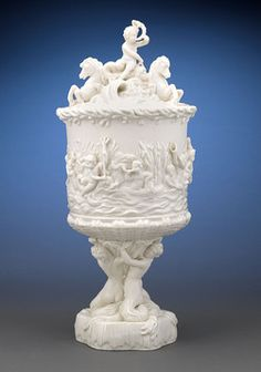 Because if its complex design and difficult manufacture, the Prince of Wales Ice Pail was one of the most expensive items ever produced by Belleek. Originally designed in 1880 for presentation to the Prince of Wales