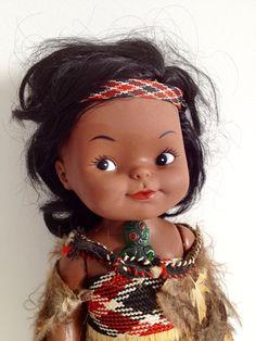 Vintage Maori Doll from NZ, New Zealand Souvenir, Kiwiana