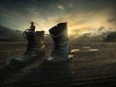 walk_a_way : surreal photomanipulation by erik johansson - all images courtesy of erik johansson