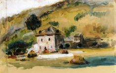 Paul Cézanne (French, 1839-1906), Near Aix-en-Provence, c. 1867. Watercolor on paper,23 x 35.5 cm.