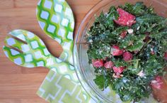 Gluten Free Summer Salad- Kale & Watermelon Salad