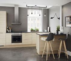 Kjøkkendesign til det moderne liv: Finn dine nye kjøkkenmøbler Nordic Kitchen, Urban Kitchen, New Kitchen, Grey Kitchens, Home Kitchens, Kitchen Unit Doors, Kitchen Interior, Kitchen Design, I Love House