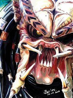 Predator by Beriuos Alien Vs Predator, Predator Movie, Predator Alien, Predator Cosplay, Aliens, Horror Art, Horror Movies, King Kong, Spawn