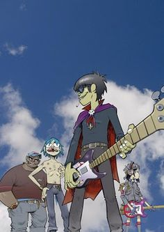Here is a place where I will post all of the official Gorillaz art. I claim none of this art and it is all created by Jamie Hewlett. I will NOT be posting any fan art (including edits). Damon Albarn, Art Gorillaz, Gorillaz Noodle, 2d And Murdoc, Jamie Hewlett Art, Russel Hobbs, Demon Days, Tank Girl, Ship Art