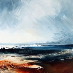 Fine artist Paul Bennett specialises in contemporary semi-abstract seascapes and landscapes, abstraction and also distinctive portraiture. Abstract Landscape Painting, Seascape Paintings, Watercolor Landscape, Landscape Art, Landscape Paintings, Watercolor Art, Watercolor Journal, Landscape Concept, Paul Bennett