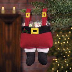 Enfeite natalino calça Noel