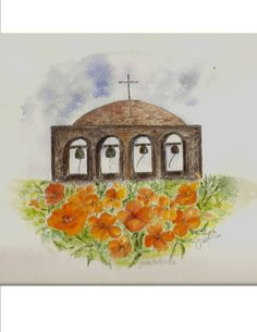 Original Pen and Ink Illustration with by CalligraphicArtisan San Juan Capistrano, California Poppy, Ink Illustrations, I Tattoo, Poppies, Watercolor, The Originals, Painting, Etsy