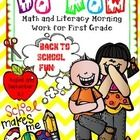 Updated May 14/2014. If you purchased previously, please download the new copy.  This is my DO NOW Morning Work journal for BACK TO SCHOOL . This f...