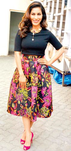 Sophie Choudry at the press meet of 'Dharam Sankat Mein'. #Bollywood #Fashion #Style #Beauty