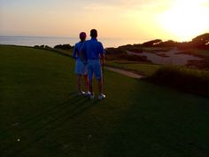 Sun setting on another beautiful Autumn day -13th Hole, Ocean South Course |  www.pelicanhill.com |The Resort at Pelican Hill, Newport Beach, CA | #pelicanhillresort #memories