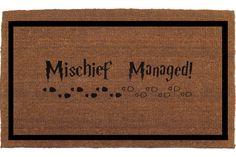 Mischief Managed Harry Potter Door Mat Coir by FranklinandFigg