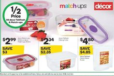 Decor Matchups & Tellfresh #foodstorage #containers are #halfprice at #woolworths until 13.6.17