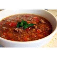 Lentil and Sausage Soup - Allrecipes.com