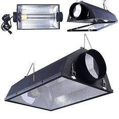 6 Air Cooled Hood Reflector Hydroponics Light Grow Hydroponic W Glass Cover -- Check this awesome product by going to the link at the image. Lamp Cord, Lamp Socket, Indoor Grow Lights, Grow Kit, Hydroponics System, Lighting System, Lamp Light, Home And Garden, Patio