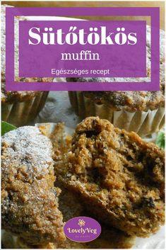 egészséges sütőtökös muffin Muffin, Food And Drink, Chicken, Meat, Muffins, Cupcakes, Cubs