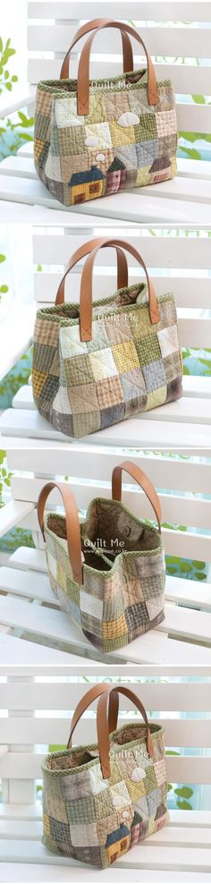 Borse E Patcwork Woman Accessories wonder woman accessories india Sacs Tote Bags, Quilted Tote Bags, Patchwork Bags, Patchwork Quilting, Bag Patterns To Sew, Sewing Patterns, Sewing Crafts, Sewing Projects, Fabric Bags