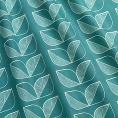 Demi Rosette fabric is a variation on the Rosette and Rosette Tile patterns. Inspired by Moorish patterns, the Demi Rosette comes in a luxurious shade of dark t Tile Patterns, Color Patterns, Moorish, Dark Teal, Rosettes, Color Trends, Colours, Instagram Posts, Fabric