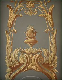 Wall Painting Decor, Art Decor, Wall Paintings, Motif Arabesque, French Wallpaper, Wood Carving Designs, Mural Art, Murals, Grisaille