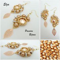 Schéma/pattern 3 en 1 bague/ring, B.O./Earrings & collier/Necklace ELZA (français & anglais)