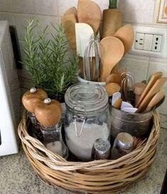 47 Trendy Ideas For Apartment Kitchen Organization Ideas Trays Diy Kitchen Storage, Kitchen Hacks, Kitchen Organization, New Kitchen, Organization Ideas, Storage Ideas, Kitchen Ideas, Kitchen Counters, Kitchen Design