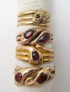 Victorian snake rings