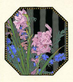 (Iris) by Gustave Baumann
