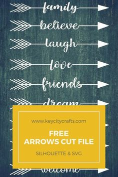 Free Arrows Cut FIle