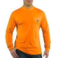 Carhartt 100494 Men's HV Color Enhanced Long Sleeve Tee #LongSleeveTShirt