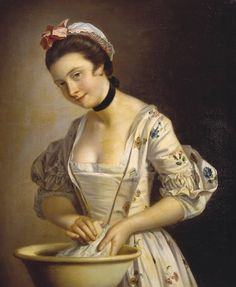 A Lady's Maid Soaping, Henry Robert Morland, 1765-85