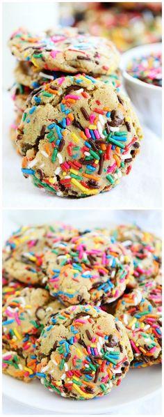 Slow Cooker: Sprinkle Chocolate Chip Cookies