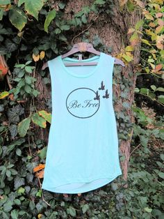 Be Free mint muscle tank!