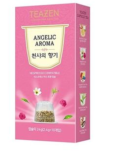 TEAZEN Angelic Aroma Capsule Tea for Nespresso Machine (10-Count Box ) •COMPATIBILITY •EASY TO DRINK •DEEP AND RICH FLAVOR •ALWAYS SAME FLAVOR AND FRAGRANCE •ENJOY COOL ICED TEA ALL YEAR  #tea #capsule #Nespresso #drinkingtea #aroma #flavor #fragrance #cool #korean #koreanproduct