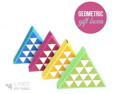 Lines Across: DIY Triangle Gift Boxes