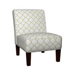 Maran Slipper Chair featuring quatrefoil 2 Medium -  white willow by drapestudio | Roostery Home Decor