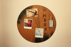 Memoboard Loft Rund 50cm Memo Boards, Loft, Industrial, Wall, Etsy, Home Decor, Round Round, Decoration Home, Lofts