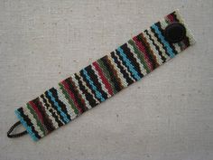 Beadwoven Peyote Native American Inspired Bracelet by Beadlike, #beadwork