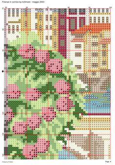 Firenze in cornice 9 Dream Catcher Boho, Cornice, Cross Stitch Designs, Scenery, Detail, Landscape, Landscapes, Paisajes, Counted Cross Stitches