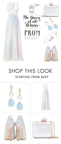 """""""prom night: pastels"""" by keepitrealforme ❤ liked on Polyvore featuring Saks Fifth Avenue, Zuhair Murad, Sophia Webster and Flint & Mortar"""