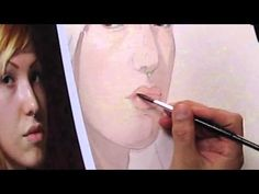 Painting The Mouth In Watercolor By Paul McCormack