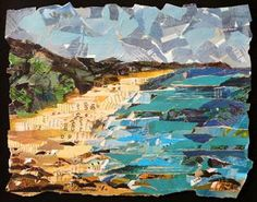 hawaii collage painting, eileen downes