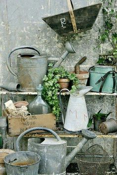Out Side Country Potting Bench.