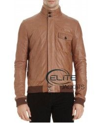 Brown leather jacket of justin bieber jacket