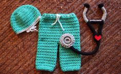 Adorable Cute Baby Doctor Nurse Crochet Newborn by MagooandBaloo, $52.00