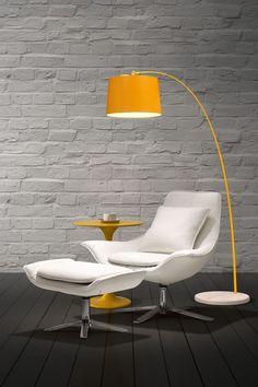 Vital White Lounge Chair and Ottoman