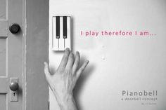 Forget the Boring Doorbell, here is the Pianobell