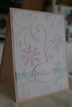 This is the card I made for Jenne`'s wedding.