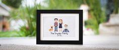 Stitch People: how to make a stitch family portrait.