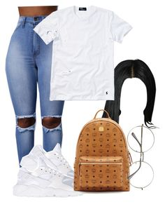 """#DOLLA$IGN#knowya"" by baddiest-bish ❤ liked on Polyvore featuring NIKE, Polo Ralph Lauren and MCM"